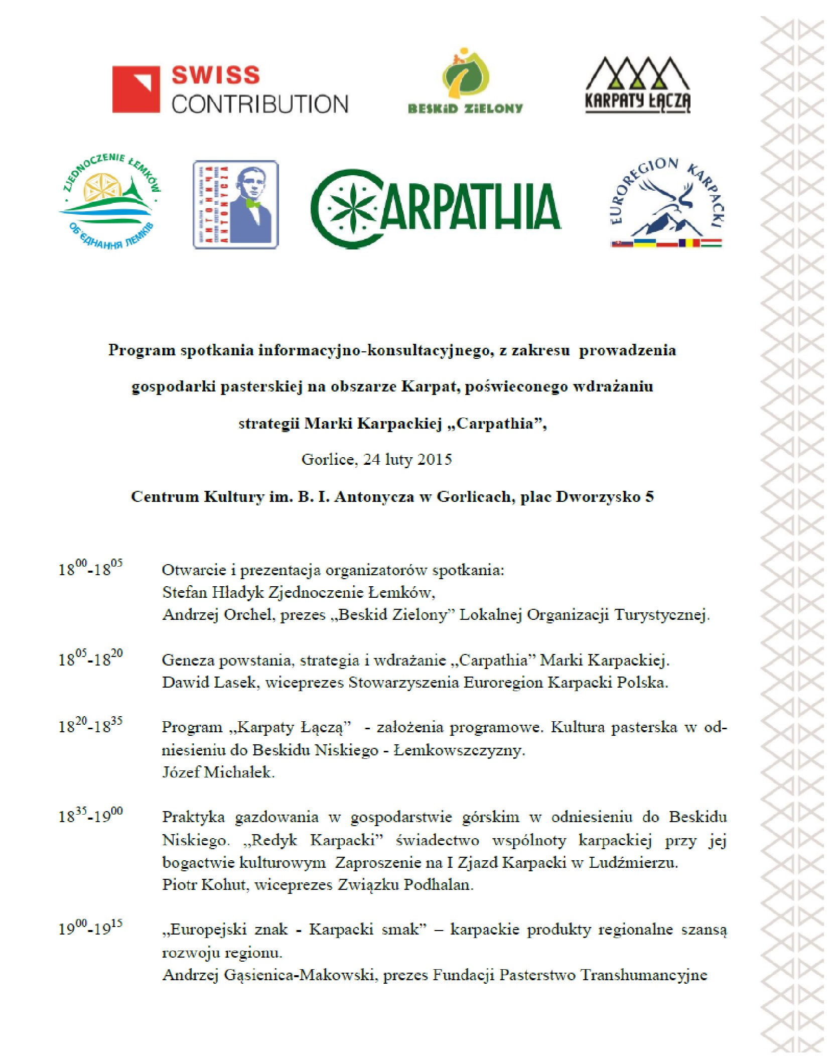 Carpathia - program1